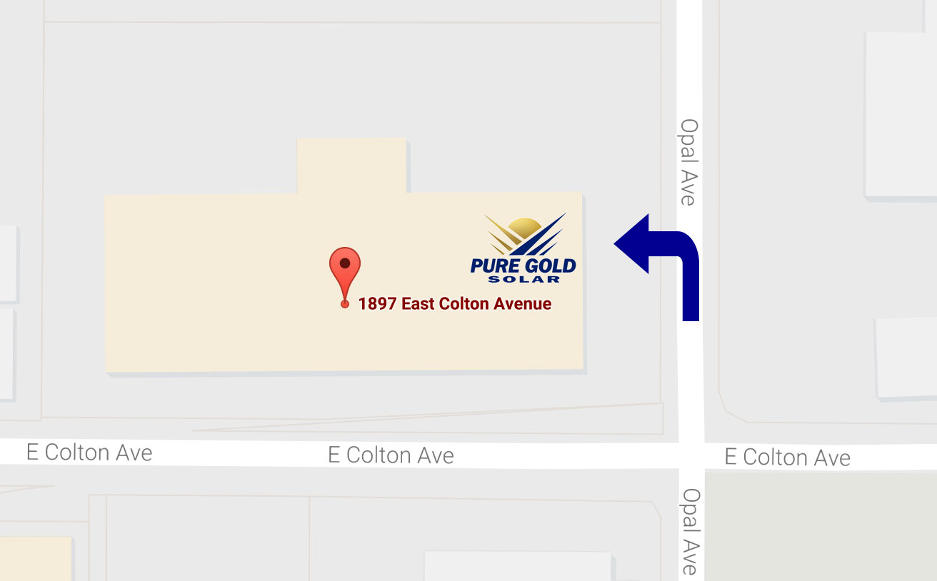 Pure Gold Solar energy efficiency forum location map